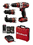 Einhell TE-CD 12/1 3X-Li +39 Cordless Drill/Driver (30 Nm, 2 Gears, Removable 10mm Chuck, incl. 34-Piece Set of Bits, 5 Wood Drill Bits, Charger + 1x 2.0 Ah Battery)